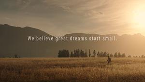 عظیمترین رویاها با جرقهای کوچک آغاز میشوند